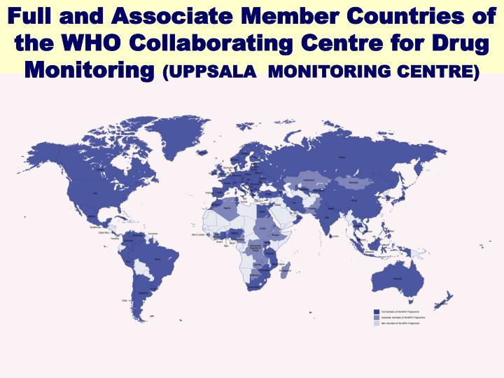 Full and Associate Member Countries of the WHO Collaborating Centre for Drug Monitoring