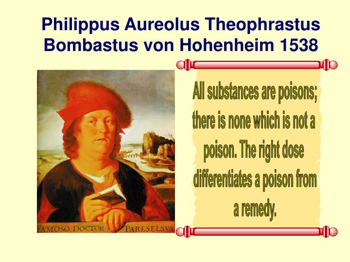 Philippus Aureolus Theophrastus Bombastus von Hohenheim 1538