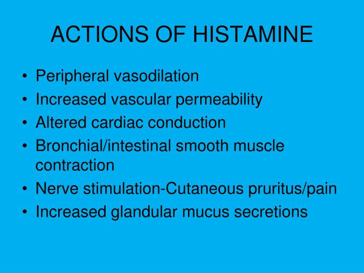 ACTIONS OF HISTAMINE