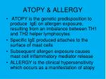 atopy allergy