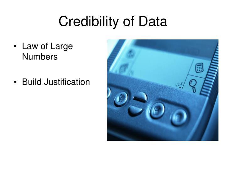 Credibility of Data