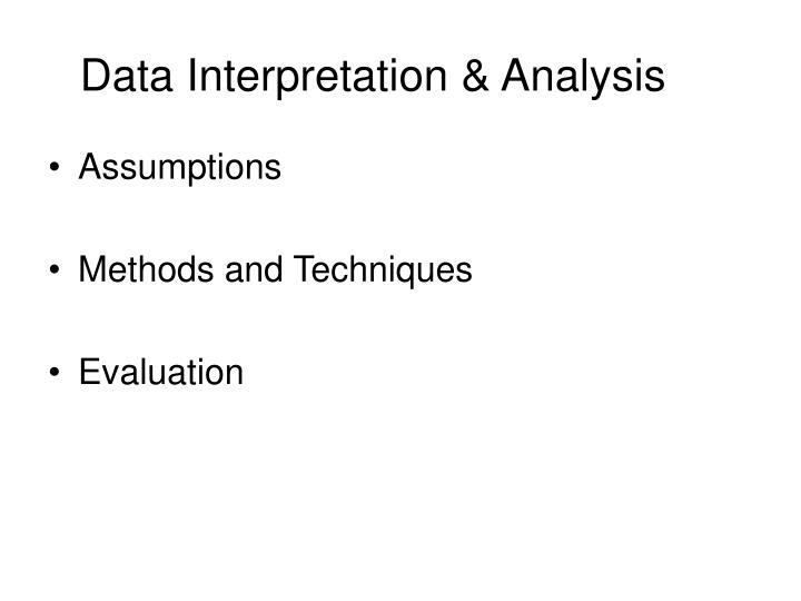 Data Interpretation & Analysis