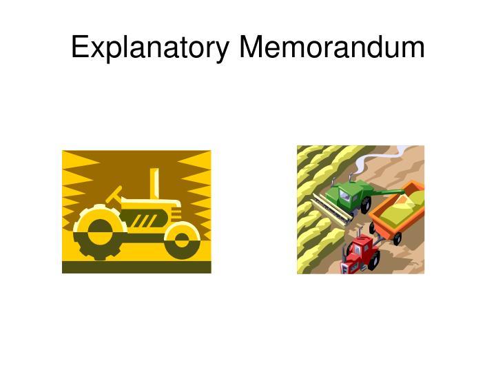 Explanatory Memorandum