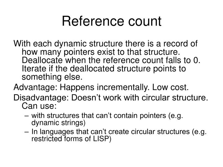 Reference count