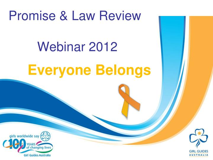 Promise law review webinar 2012
