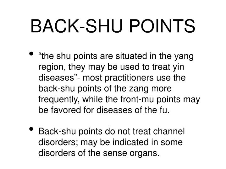 BACK-SHU POINTS