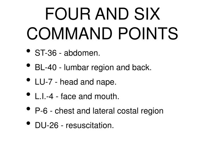 FOUR AND SIX COMMAND POINTS