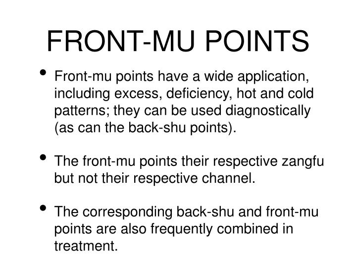 FRONT-MU POINTS