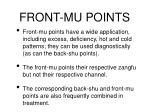 front mu points