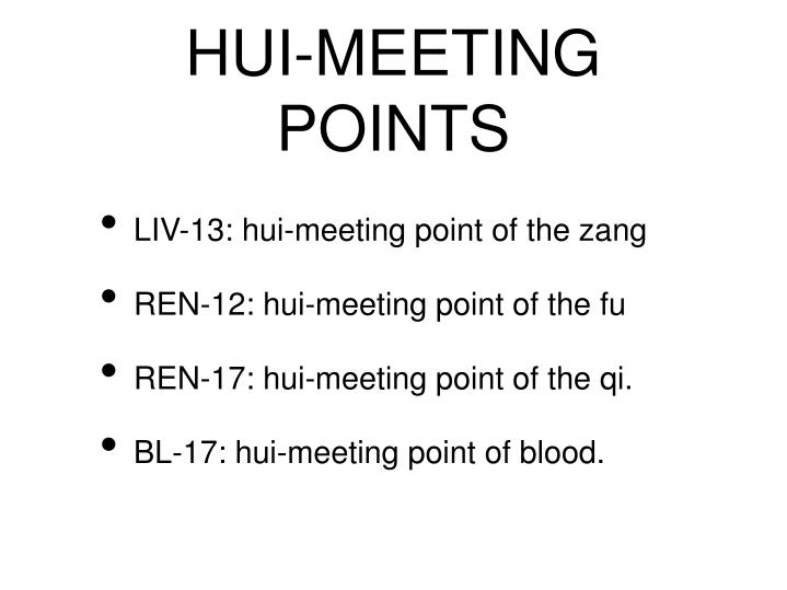 HUI-MEETING POINTS