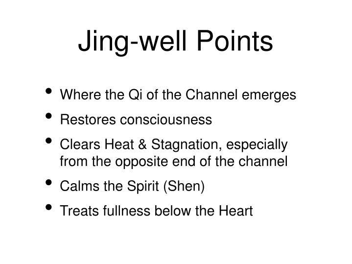 Jing-well Points