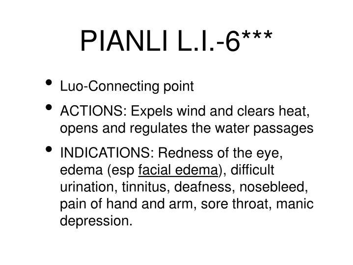 PIANLI L.I.-6***