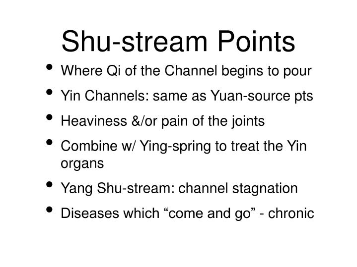 Shu-stream Points