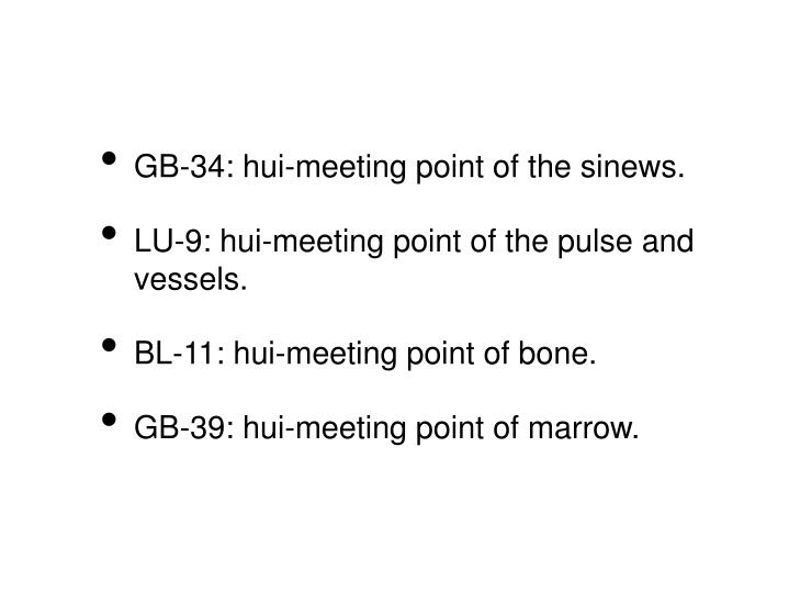 GB-34: hui-meeting point of the sinews.