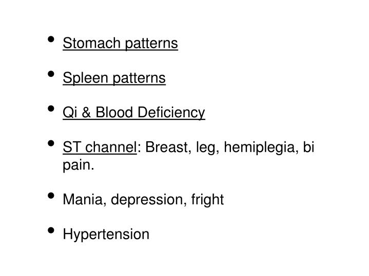 Stomach patterns