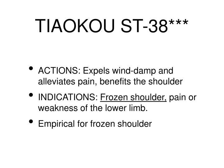 TIAOKOU ST-38***