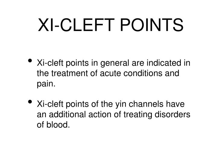 XI-CLEFT POINTS