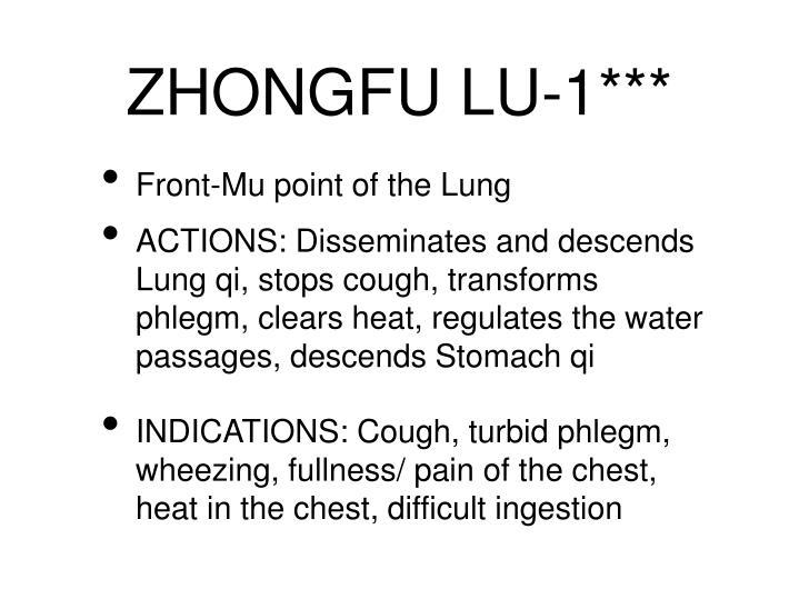 ZHONGFU LU-1***