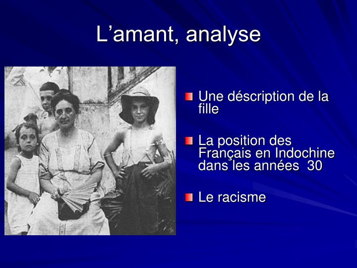 L'amant, analyse