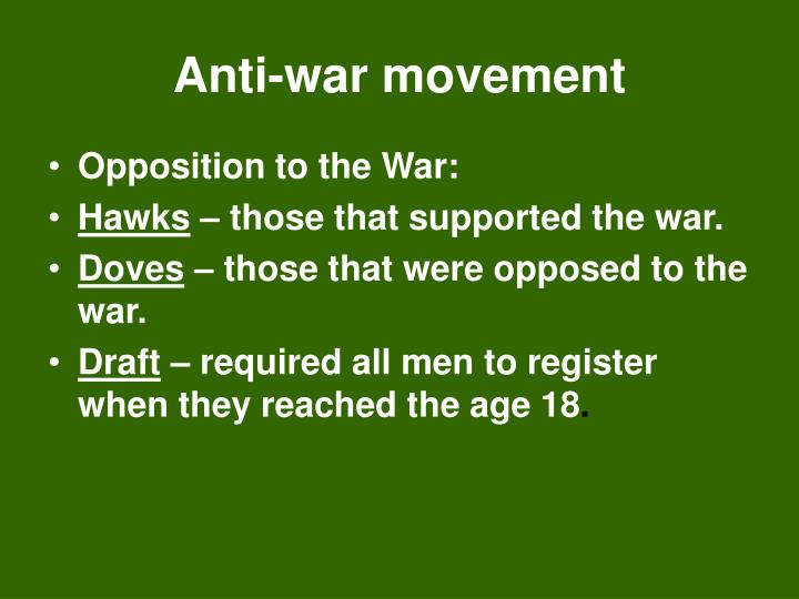 Anti-war movement