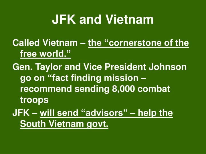 JFK and Vietnam