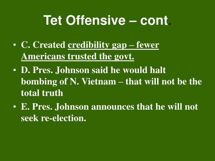 Tet Offensive – cont