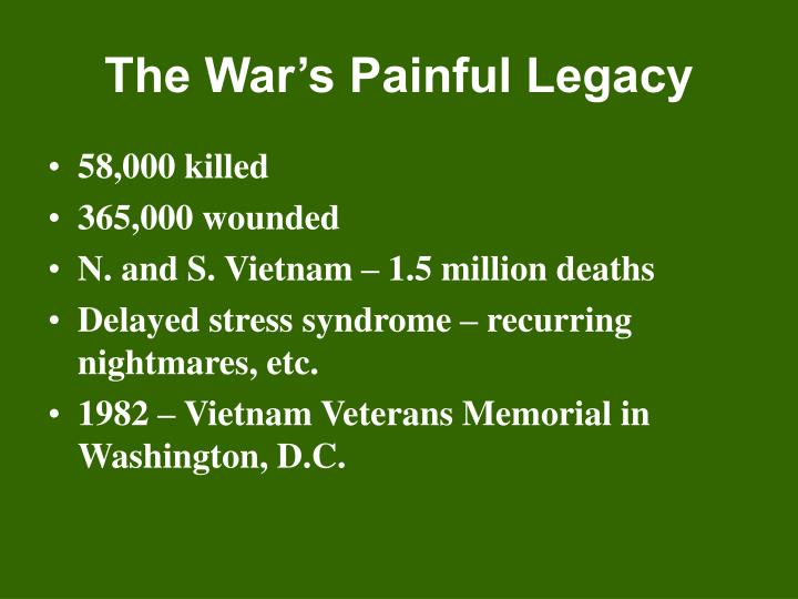 The War's Painful Legacy
