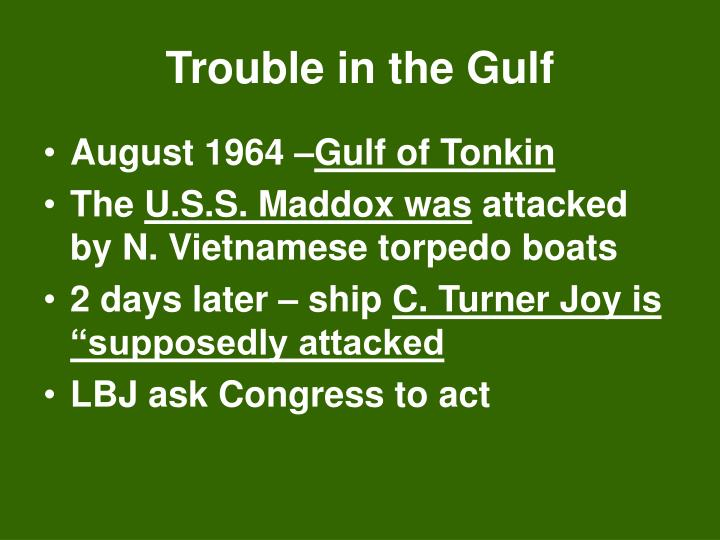 Trouble in the Gulf