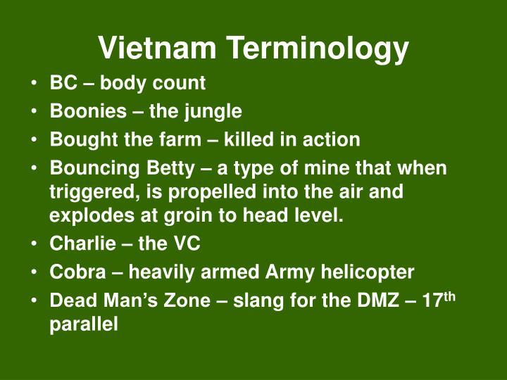 Vietnam Terminology