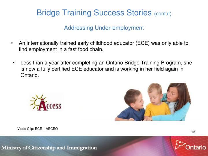 Bridge Training Success Stories