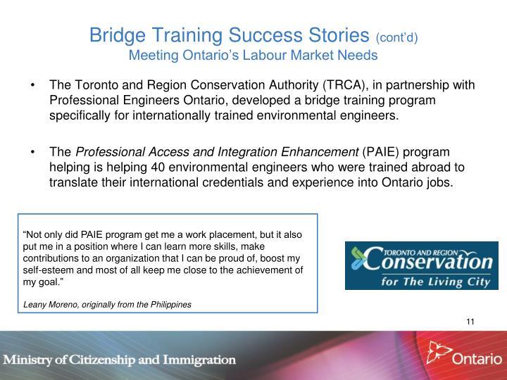 Bridge Training Success Stories
