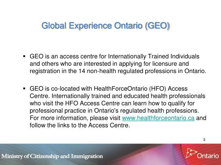 Global Experience Ontario (GEO)