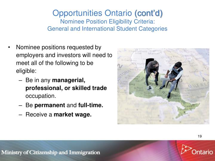 Opportunities Ontario