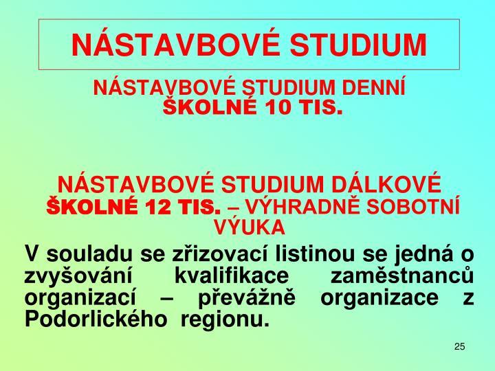 NÁSTAVBOVÉ STUDIUM