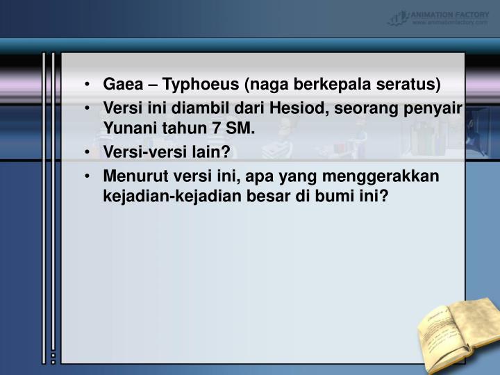 Gaea – Typhoeus (naga berkepala seratus)