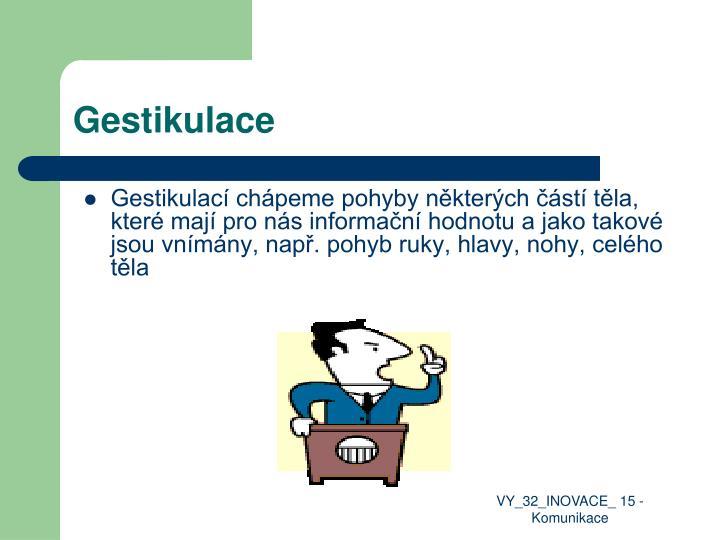 Gestikulace
