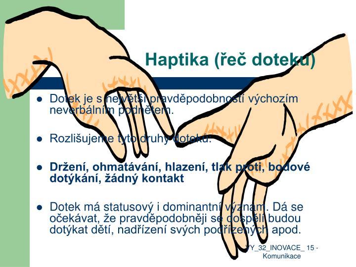 Haptika (řeč doteku)