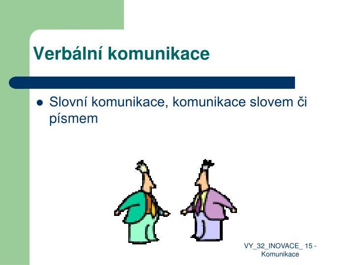 Verbální komunikace