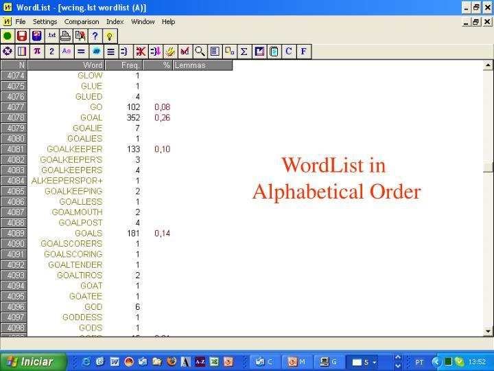 WordList in