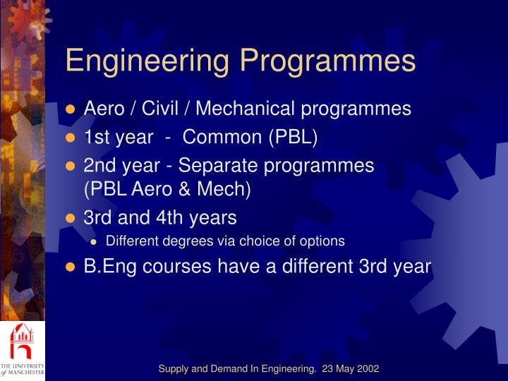 Engineering Programmes