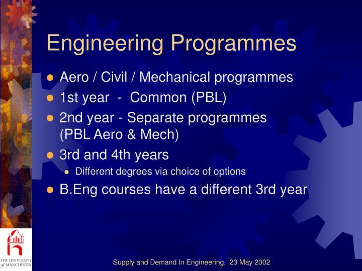 Engineering Programmes