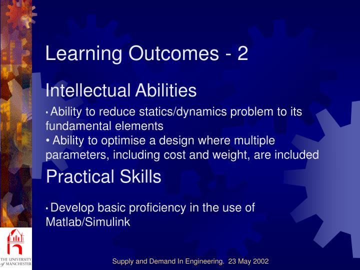 Learning Outcomes - 2