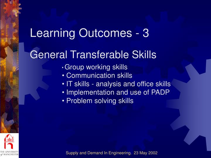 Learning Outcomes - 3