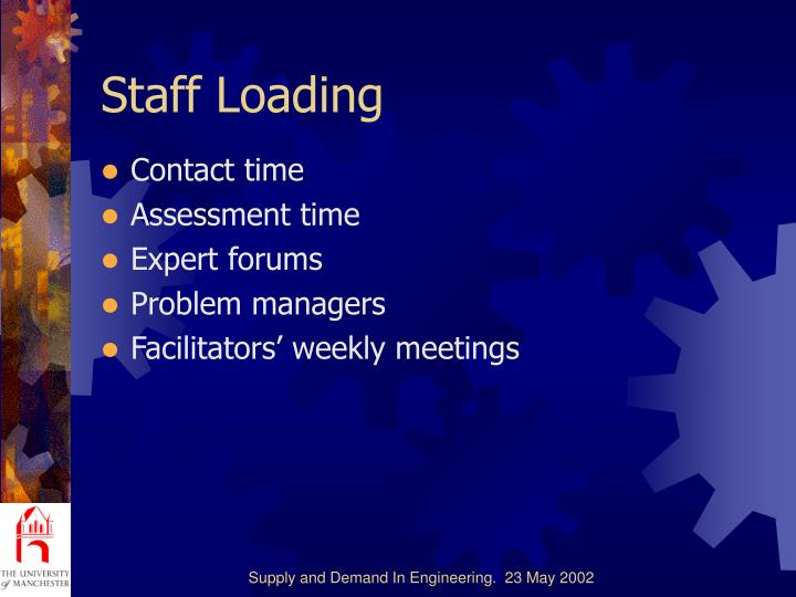 Staff Loading