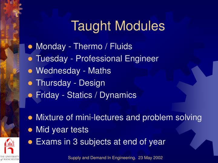 Taught Modules