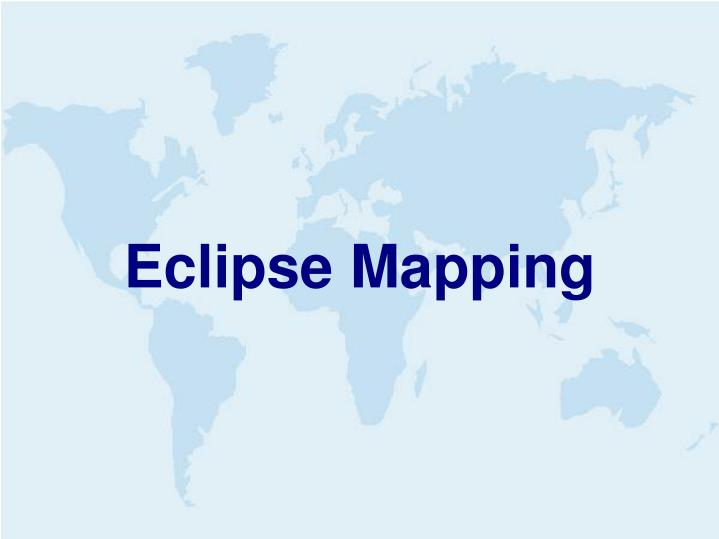 Eclipse Mapping