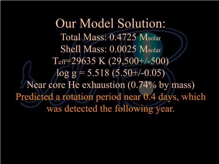 Our Model Solution: