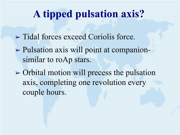 A tipped pulsation axis?
