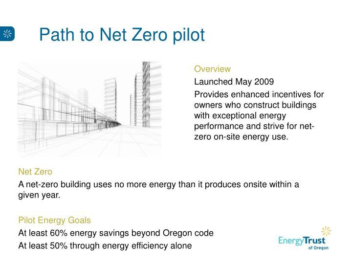 Path to Net Zero pilot