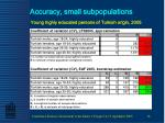 accuracy small subpopulations